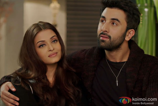 Aishwarya Rai Bachchan and Ranbir Kapoor in a still from Ae Dil Hai Mushkil