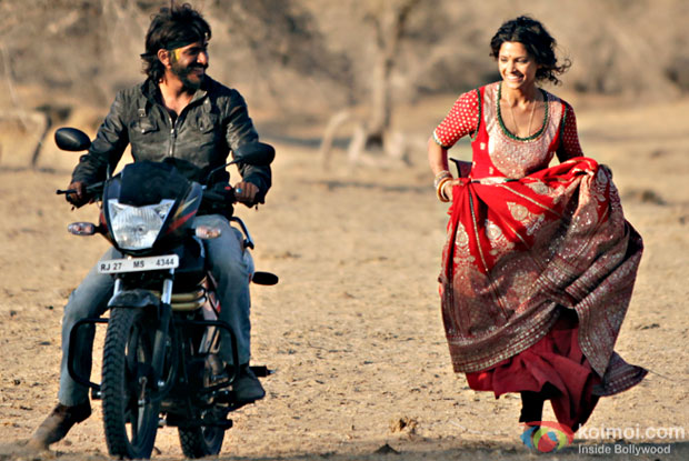 Harshvardhan Kapoor and Saiyami Kher in a still from Mirzya