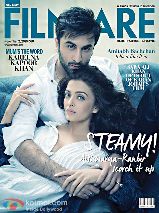 Ranbir Kapoor and Aishwarya Sizzle Up On Filmfare Cover