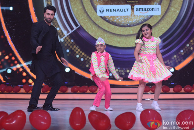 Ranbir Kapoor on the sets of Jhalak Dikhhla Jaa