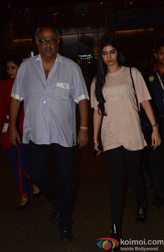 Boni Kapoor and Khushi Kapoor spotted at Airport