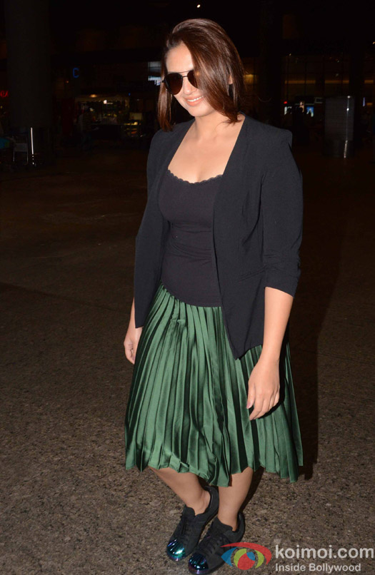 Huma Qureshi spotted at Airport