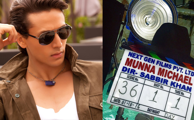 Snapped: Tiger Shroff starts shooting for Munna Michael