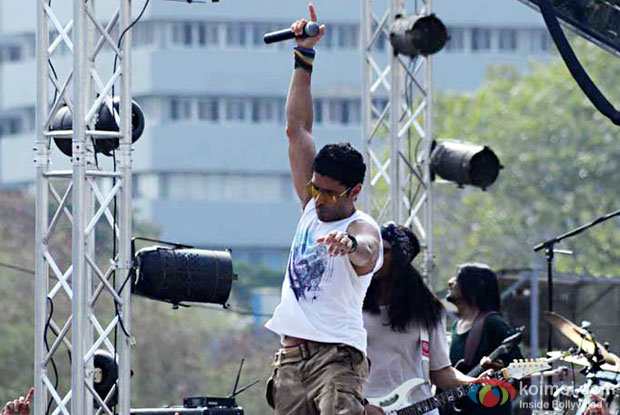 Farhan Akhtar in a still from Rock On 2