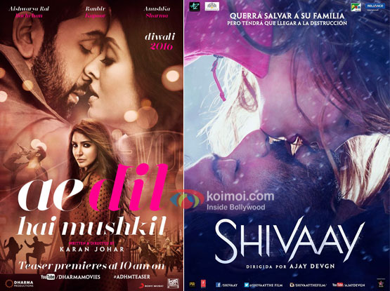 Check Out The Updated Gross Collections Of Ae Dil Hai Mushkil And Shivaay