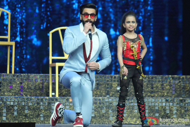Ranveer Singh during the Promotion of film Befikre on the sets of Super Dancer