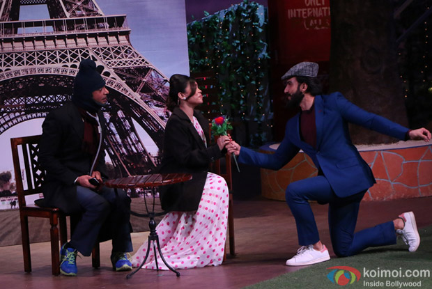 Ranveer Singh on the sets of The Kapil Sharma Show