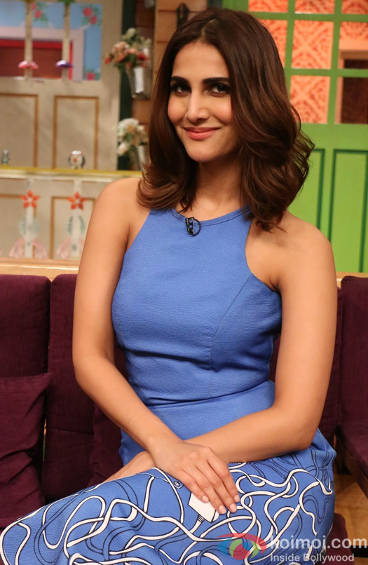 Vaani Kapoor on the sets of The Kapil Sharma Show