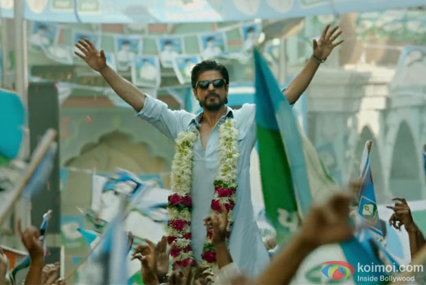 Shah Rukh Khan in stills of Raees Movie