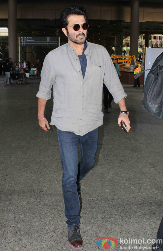 Anil kapoor spotted at Airport