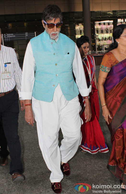 Amitabh Bachchan spotted at Airport