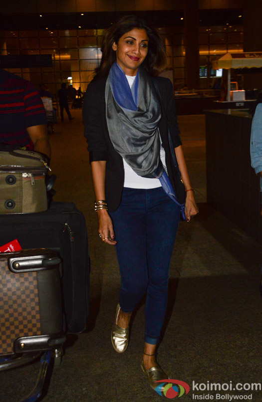 Shilpa Shetty spotted at Airport