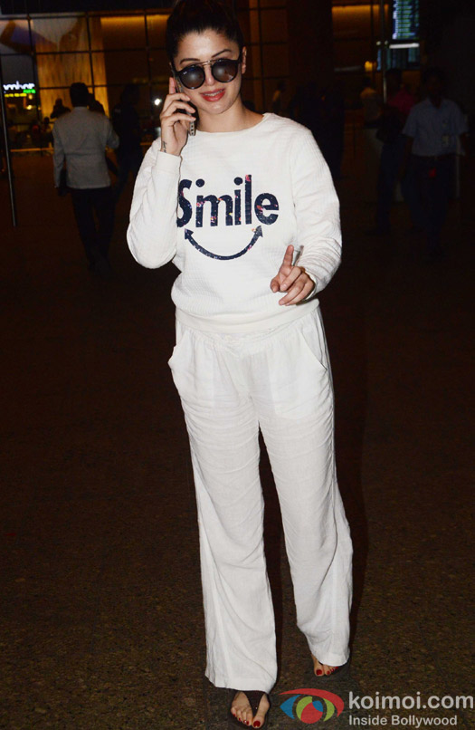 Kainaat Arora spotted at Airport