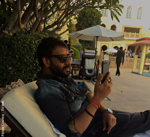 Ajay Devgn on location of Baadshaho