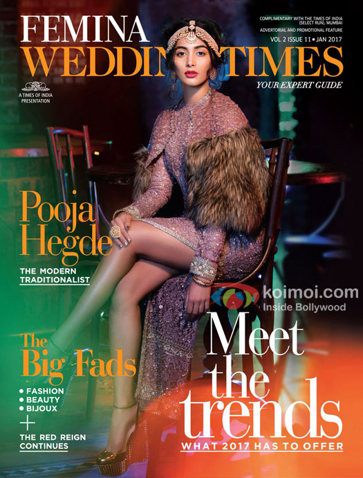 Pooja Hegde Graces The Cover Of Femina Wedding Times Magazine