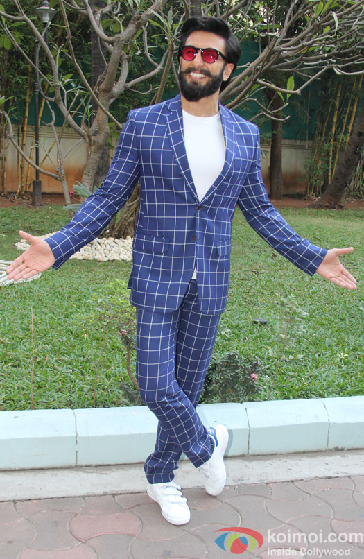 Ranveer Singh during the promotion of Befikre at YRF studio