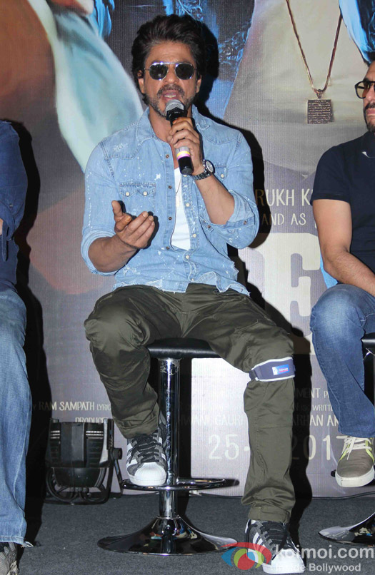 Shah Rukh Khan during the Trailer launch of Raees