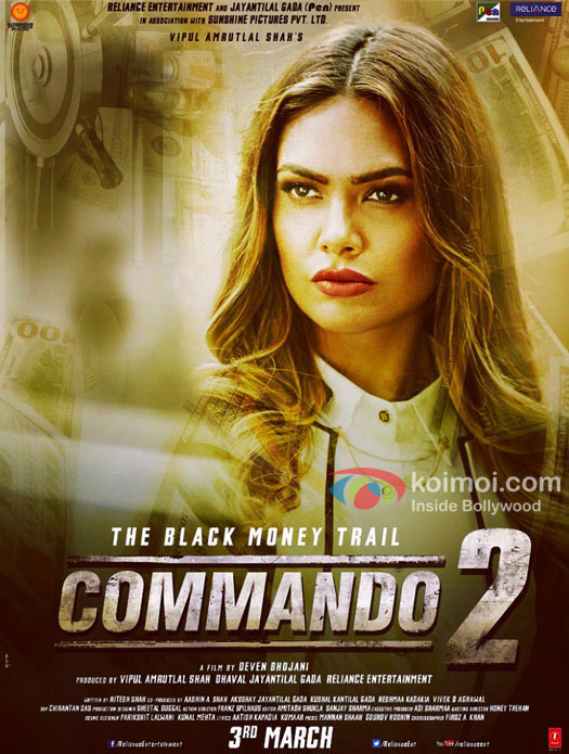 Check Character Poster Of Esha Gupta From Commando 2