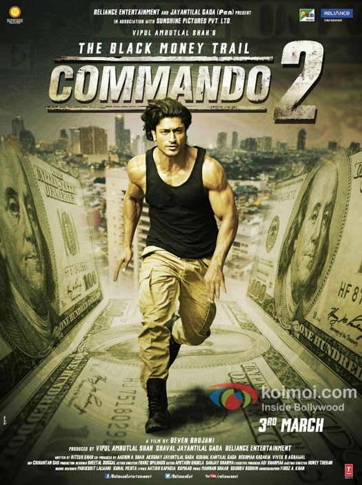 Check Character Poster Of Vidyut Jammwal From Commando 2