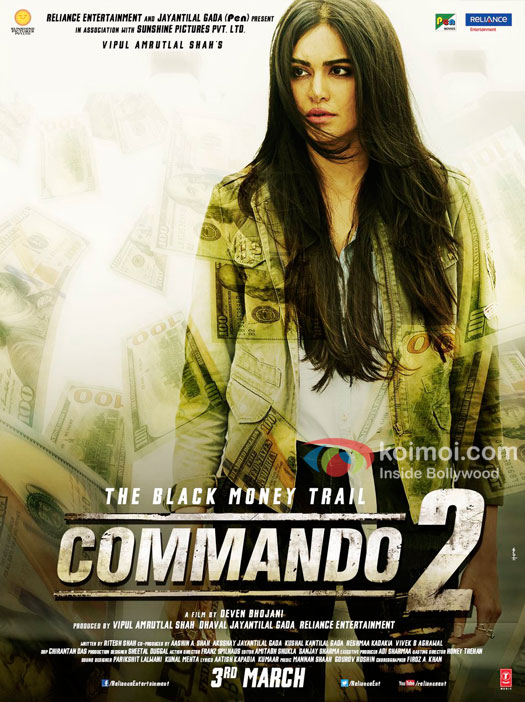Check Character Poster Of Adah Sharma From Commando 2