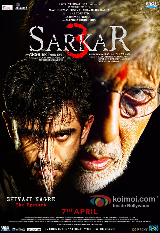 Check out the poster of Ram Gopal Varma's Sarkar 3 starring Amitabh Bachchan