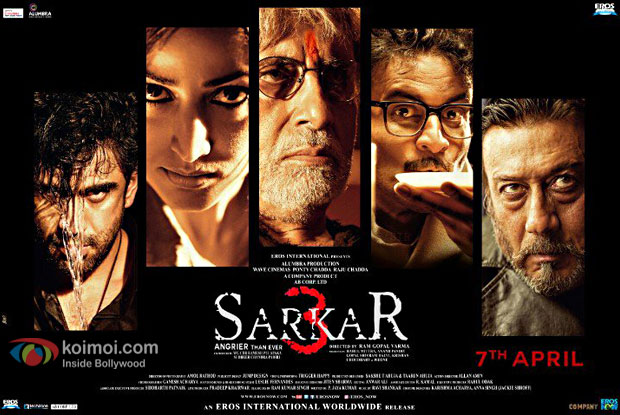Sarkar 3 Poster Out : Big B, Jackie Shroff, Yami And Others Look Fierce