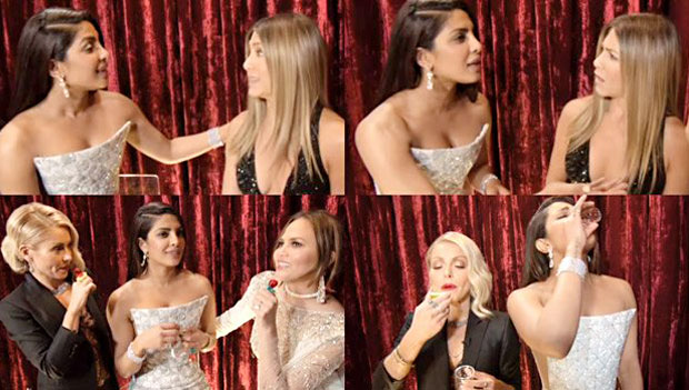Priyanka interviews Jennifer Aniston at Oscars 2017 backstage
