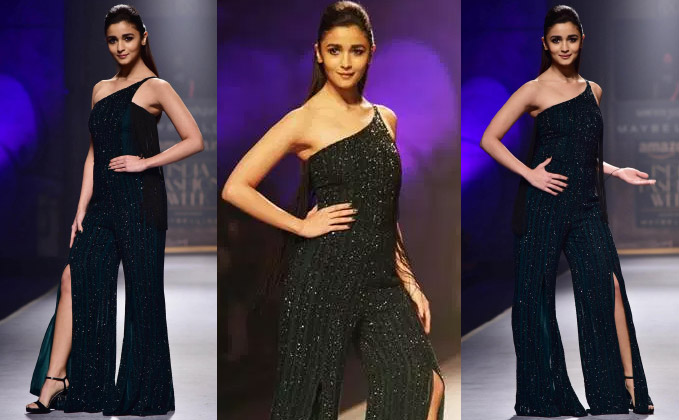 Alia sported a 'grungy' look for Namrata Joshipura at AIFW A-W 2017