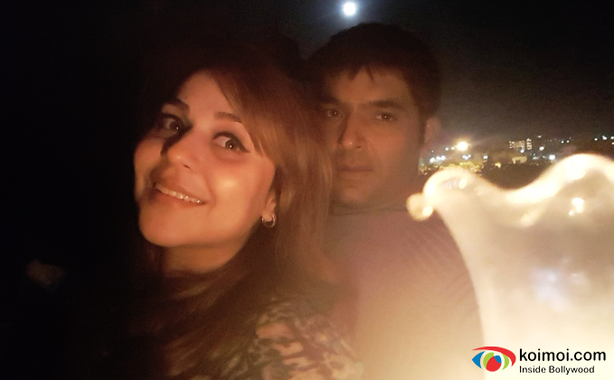 Kapil Sharma along with his girlfriend