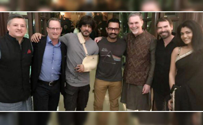 Shah Rukh, Aamir Spend 'Khantastic' Night With Netflix CEO