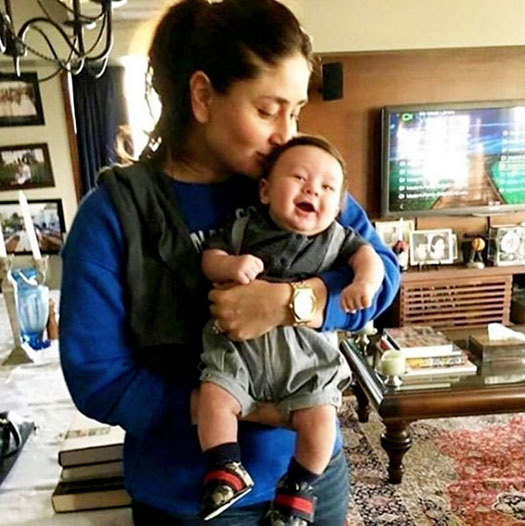 Kareena Kapoor Khan kissing Taimur
