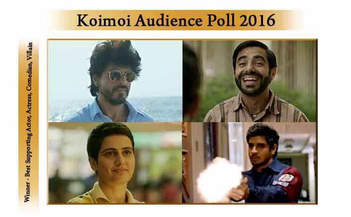Koimoi Audience Poll 2016: Shah Rukh Khan, Fatima Sana Shaikh, Aparshakti Khurrana and Tahir Raj Bhasin Emerge Winners