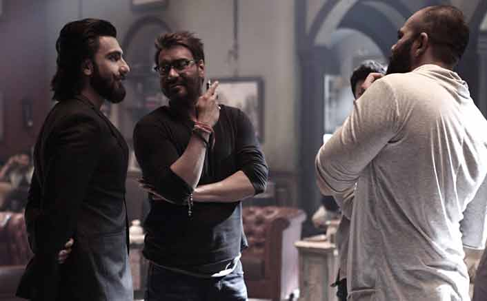 Ranveer Singh visiting on the sets of Golmaal Again!