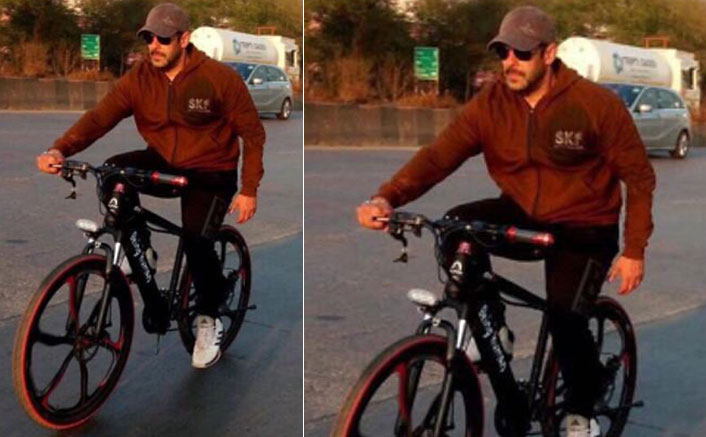 Spotted: Salman Khan Enjoying A Cycle Ride In Panvel