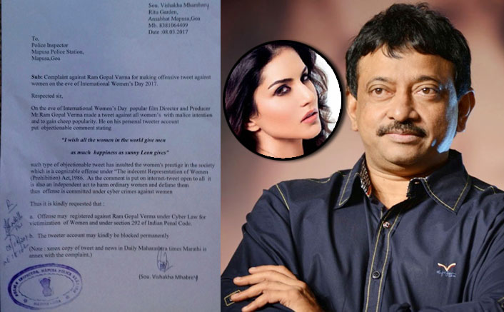 Womens Branch Of Hindi Janjagruti Files Complaint Against RGV Over Sexist Tweet About Sunny Leone