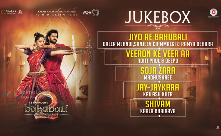 Check Out The Complete Audio Jukebox Of Baahubali 2 The Conclusion Hindi Version