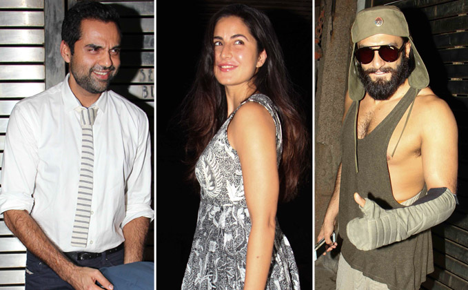 Katrina Kaif, Ranveer Singh Abhey Deol late night party at Farhan Aktar's house