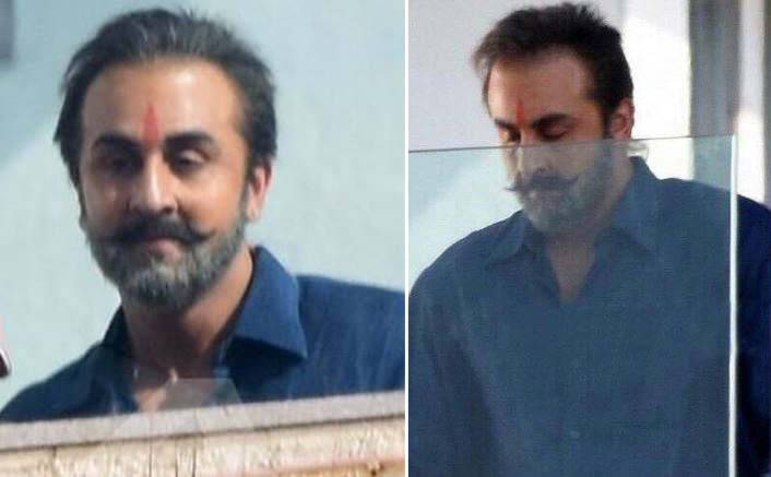 OMG! Ranbir Kapoor looks unrecognisable on the sets of Sanjay Dutt's biopic!