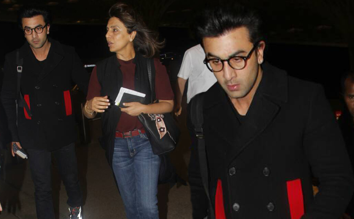 Ranbir Kapoor goes to london with mom Neetu Kapoor