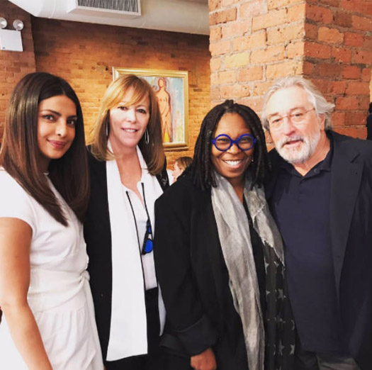 This is HUGE! Priyanka Chopra poses with Robert De Niro at The Tribeca Film festival 2017