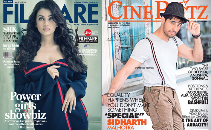 Aishwarya on Filmfare's cover is hotness personified, Sidharth Malhotra graces CineBlitz