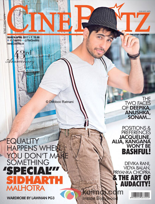 Sidharth Malhotra on the cover of CineBlitz