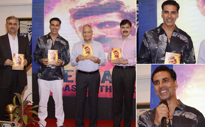 Akshay Kumar attends a book launch event in the city