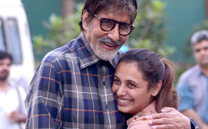 Amitabh Bachchan Bumps On The Sets Of Hichki To Meet Rani Mukerji