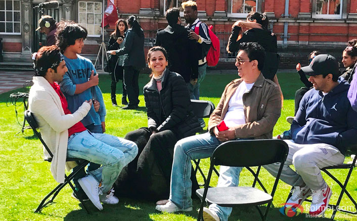 Varun Dhawan, Taapsee Pannu And The Cast & Crew Of Judwaa 2 Have Fun In London!