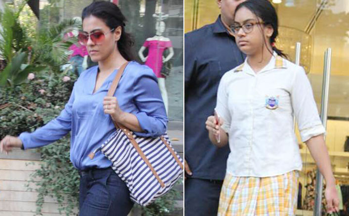 kajol with her daughter spotted at bebe showroom bandra