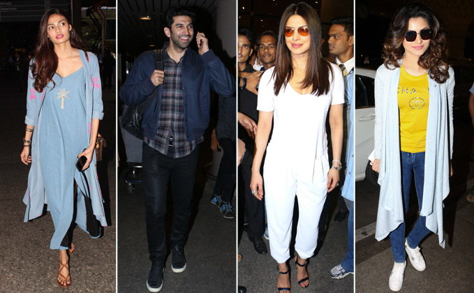 priyanka chopra, Athiya Shetty, Aditya roy kapur and many more celebs spotted at airport