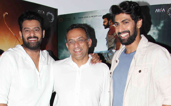 starcast of bahubali spooted during the promotion of the film at mumbai