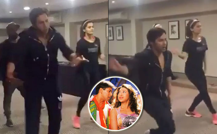 Check out this cute video of Judwaa 2 stars Varun Dhawan and Taapsee Pannu trying to match steps with Oonchi Hai Building