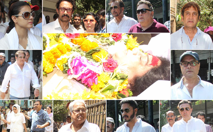 Aamir Khan, Kajol, Rishi Kapoor & Others Attend Reema Lagoo's Funeral